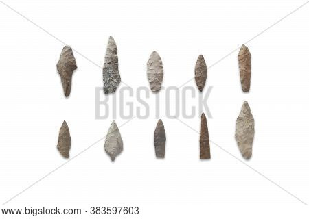 Arrowheads Of Primitive Hunters - Stone Arrowheads