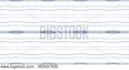 Geometric Handmade Brush Strokes. Blue Retro Stripes Repeat. Seamless Vintage Art Decoration. Purple
