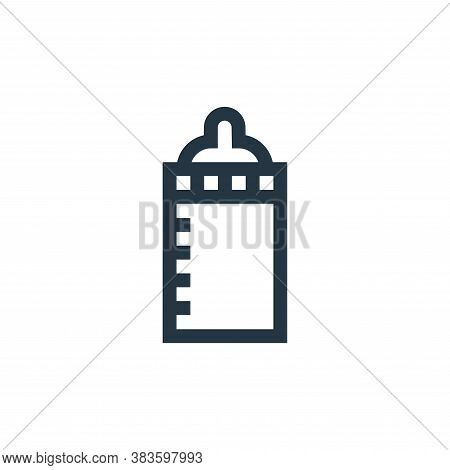 baby bottle icon isolated on white background from baby shower collection. baby bottle icon trendy a