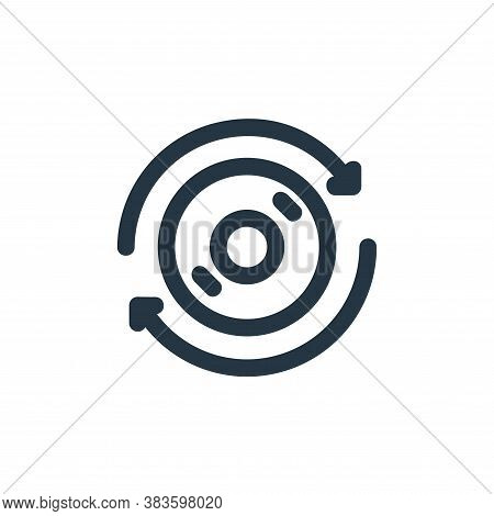 scan icon isolated on white background from disc tool line collection. scan icon trendy and modern s