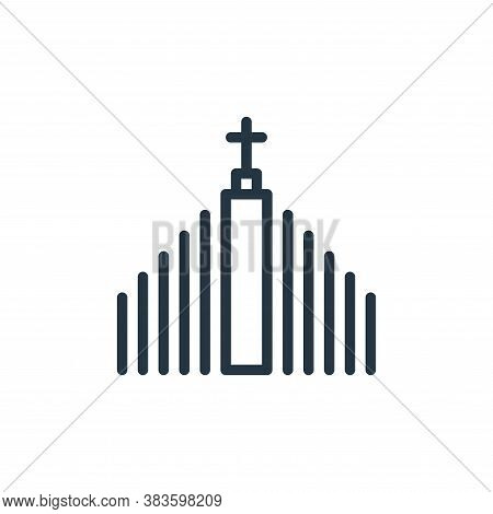 church icon isolated on white background from travel collection. church icon trendy and modern churc