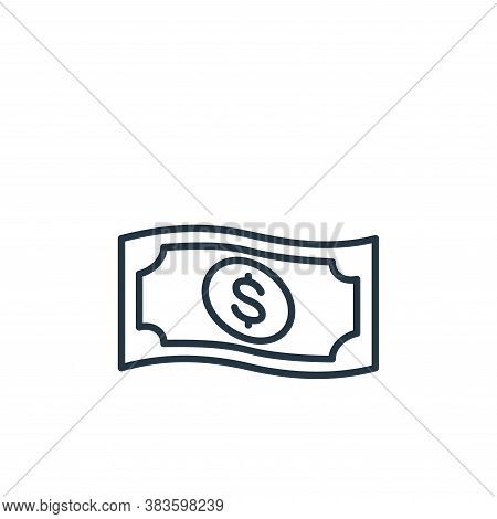banknote icon isolated on white background from e commerce collection. banknote icon trendy and mode