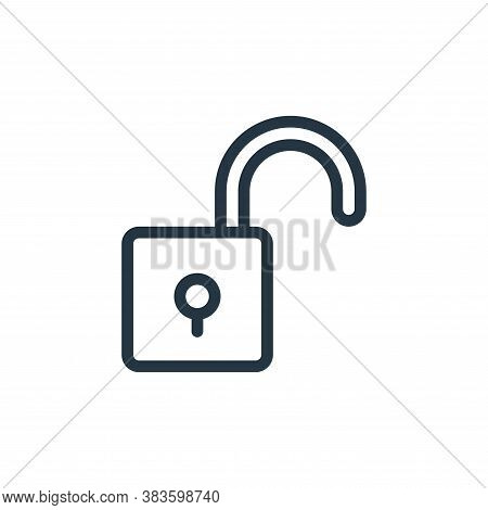 unlock icon isolated on white background from miscellaneous collection. unlock icon trendy and moder