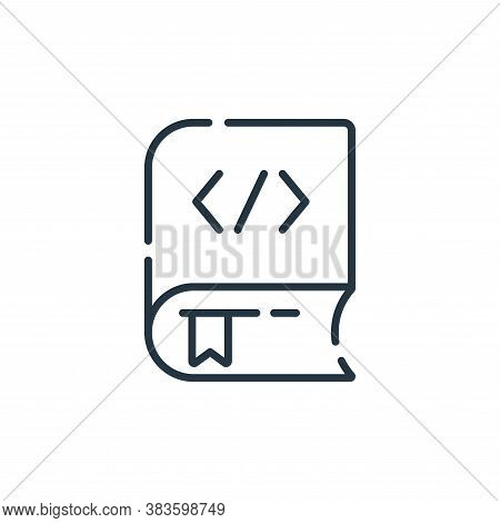 coding book icon isolated on white background from programming collection. coding book icon trendy a