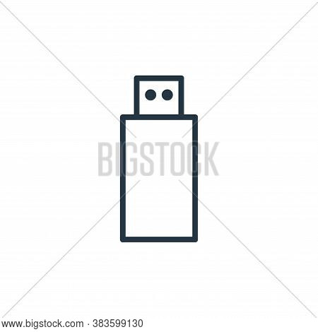flash drive icon isolated on white background from computer collection. flash drive icon trendy and