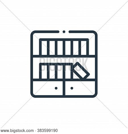 bookcase icon isolated on white background from books collection. bookcase icon trendy and modern bo