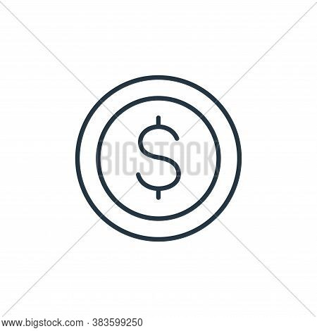 coin icon isolated on white background from finance collection. coin icon trendy and modern coin sym