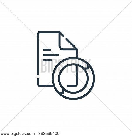 sync icon isolated on white background from programming collection. sync icon trendy and modern sync