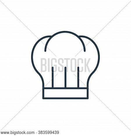 chef hat icon isolated on white background from bakery collection. chef hat icon trendy and modern c