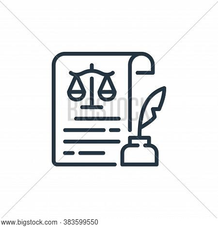 quill icon isolated on white background from law and justice collection. quill icon trendy and moder