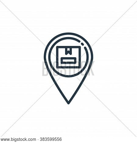 placeholder icon isolated on white background from shipping logistics collection. placeholder icon t