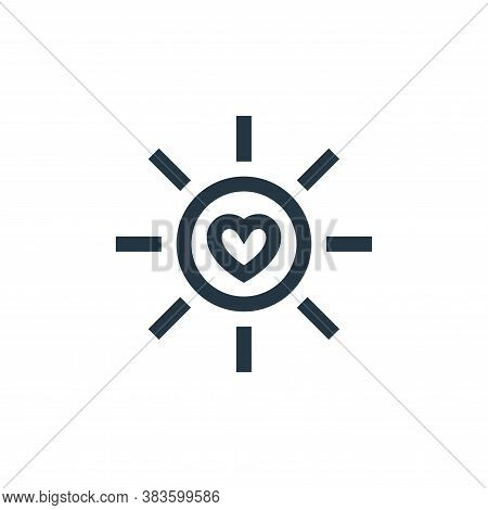 sun icon isolated on white background from mothers day collection. sun icon trendy and modern sun sy