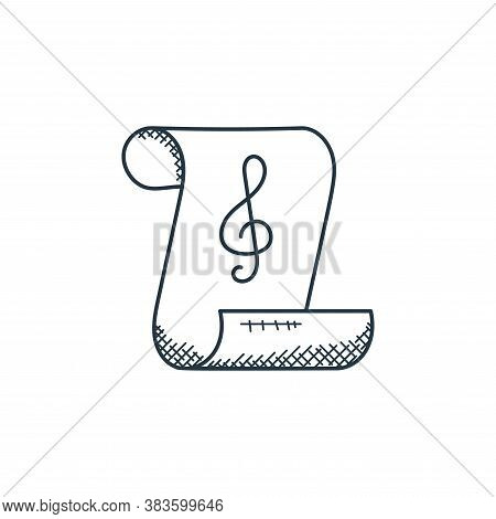 sheet music icon isolated on white background from music collection. sheet music icon trendy and mod