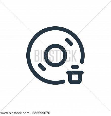 delete icon isolated on white background from disc tool line collection. delete icon trendy and mode