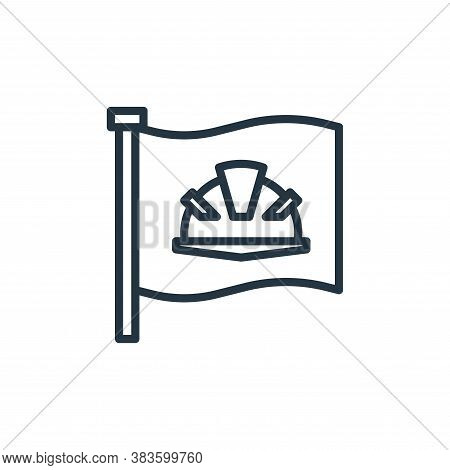 flag icon isolated on white background from labour day collection. flag icon trendy and modern flag