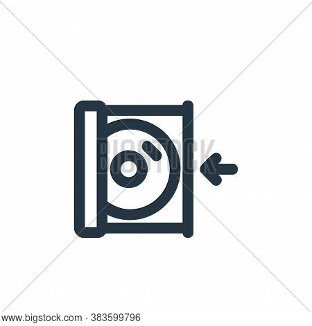 insert icon isolated on white background from disc tool line collection. insert icon trendy and mode