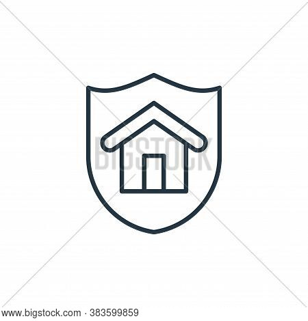 shield icon isolated on white background from smarthome collection. shield icon trendy and modern sh