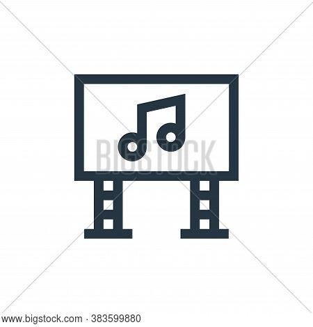 big screen icon isolated on white background from music festival collection. big screen icon trendy