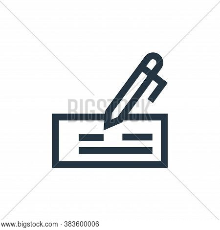 cheque icon isolated on white background from economy collection. cheque icon trendy and modern cheq