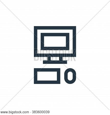 computer icon isolated on white background from education collection. computer icon trendy and moder