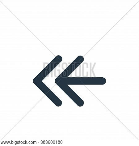 left way icon isolated on white background from arrows collection. left way icon trendy and modern l