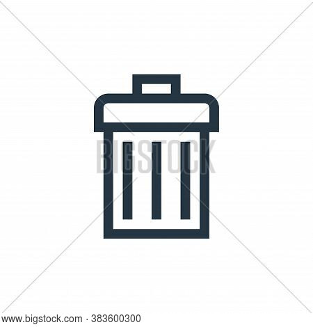 trash icon isolated on white background from vector editing collection. trash icon trendy and modern