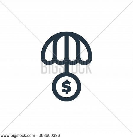 insurance icon isolated on white background from economy collection. insurance icon trendy and moder