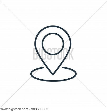 place icon isolated on white background from e commerce collection. place icon trendy and modern pla