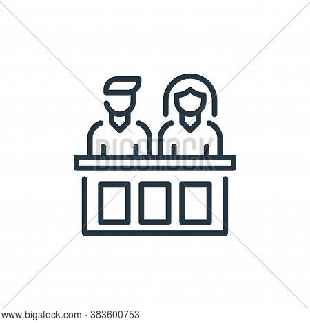 jury icon isolated on white background from law and justice collection. jury icon trendy and modern