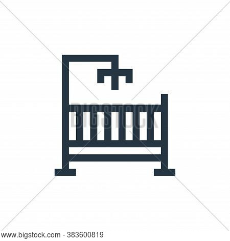 crib icon isolated on white background from mothers day collection. crib icon trendy and modern crib
