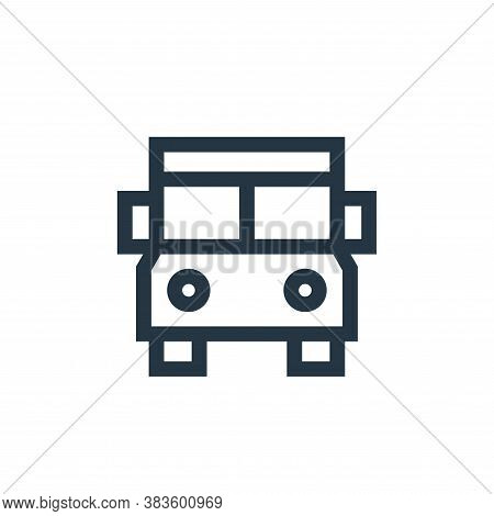 electric bus icon isolated on white background from education collection. electric bus icon trendy a