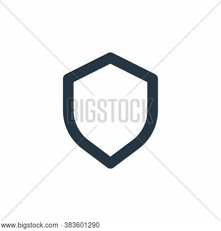 shield icon isolated on white background from basic ui collection. shield icon trendy and modern shi