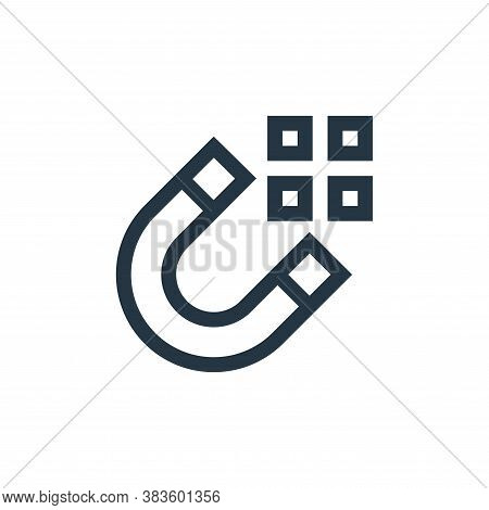 magnet icon isolated on white background from vector editing collection. magnet icon trendy and mode