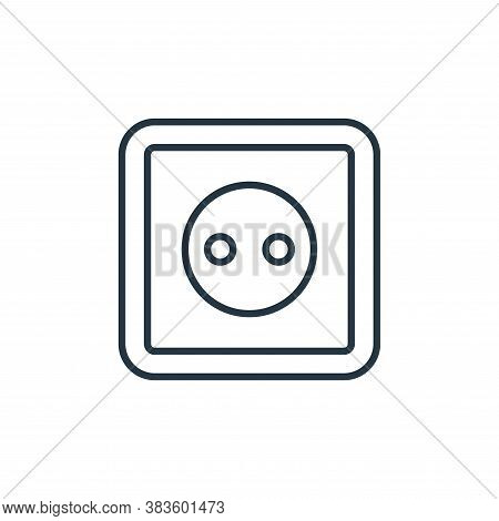 electric socket icon isolated on white background from smarthome collection. electric socket icon tr