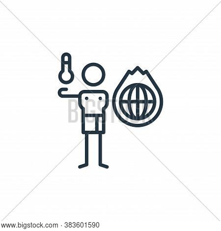 global warming icon isolated on white background from climate change collection. global warming icon