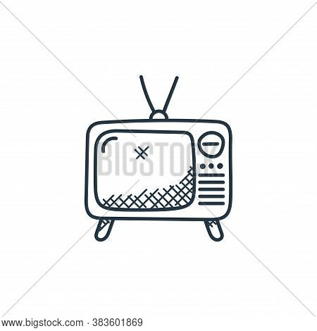 television icon isolated on white background from music collection. television icon trendy and moder