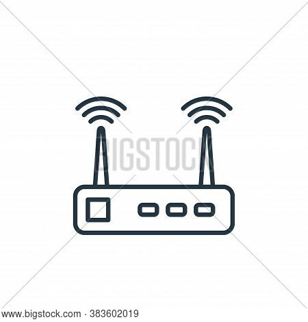 wifi router icon isolated on white background from smarthome collection. wifi router icon trendy and