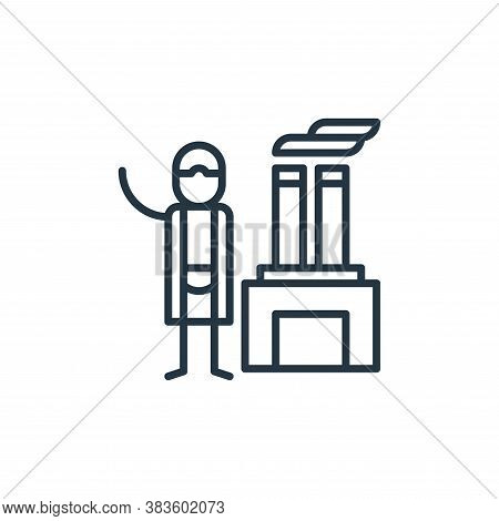 factory icon isolated on white background from climate change collection. factory icon trendy and mo