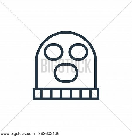 balaclava icon isolated on white background from crime collection. balaclava icon trendy and modern