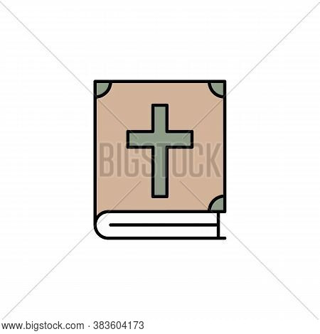 Bible, Death Outline Icon. Detailed Set Of Death Illustrations Icons. Can Be Used For Web, Logo, Mob