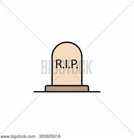 Grave, Rip Outline Icon. Detailed Set Of Death Illustrations Icons. Can Be Used For Web, Logo, Mobil
