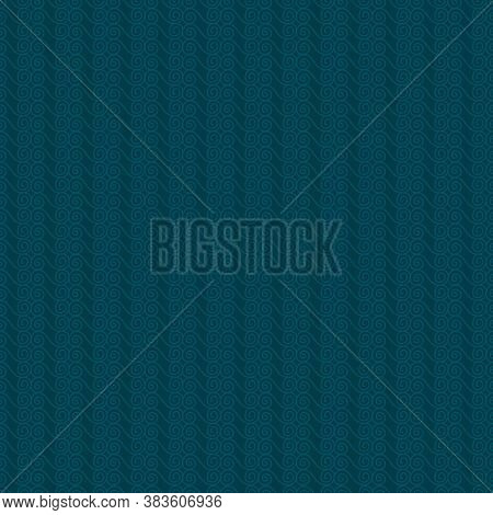 Striped Vintage Seamless Pattern On Cyan Blue Background For Fabrics, Scrapbooking, Wrapping.