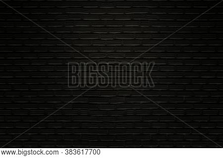 Close-up Photos Of Old Black Brick Texture Details Background. House, Shop, Cafe And Office Design B