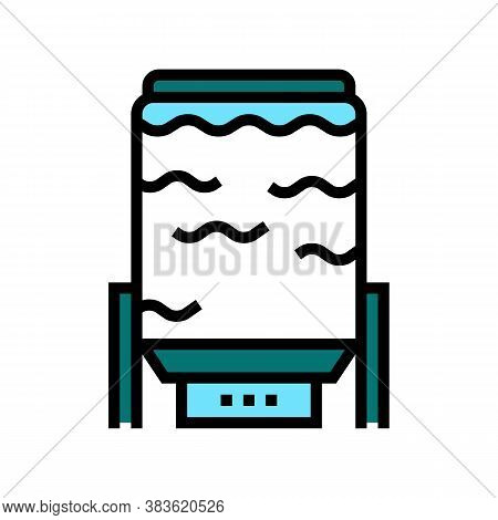Oxygen Delignification System Color Icon Vector. Oxygen Delignification System Sign. Isolated Symbol