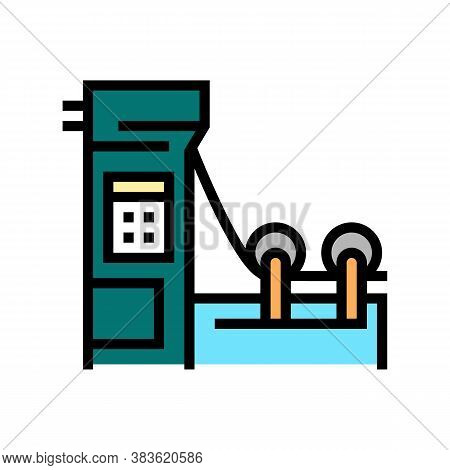 Paper Production Machine Color Icon Vector. Paper Production Machine Sign. Isolated Symbol Illustrat