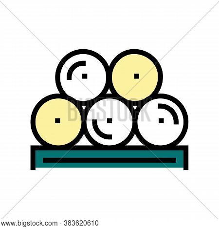 Paper Rolls Product Color Icon Vector. Paper Rolls Product Sign. Isolated Symbol Illustration