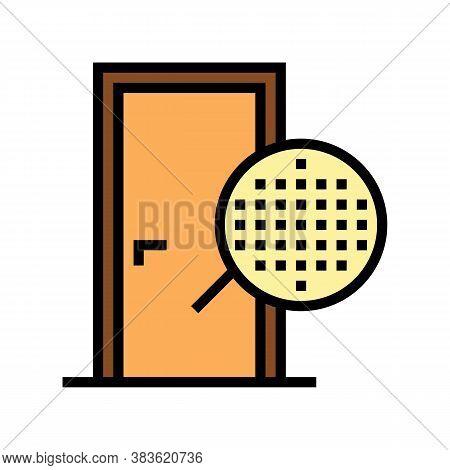 Veneer Material Door Color Icon Vector. Veneer Material Door Sign. Isolated Symbol Illustration