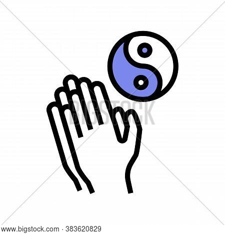 Yoga Practice Color Icon Vector. Yoga Practice Sign. Isolated Symbol Illustration