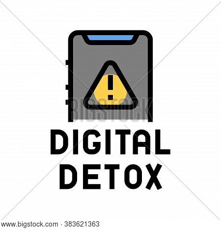 Digital Detox Color Icon Vector. Digital Detox Sign. Isolated Symbol Illustration