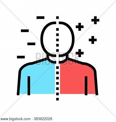 Bipolar Disorder Color Icon Vector. Bipolar Disorder Sign. Isolated Symbol Illustration